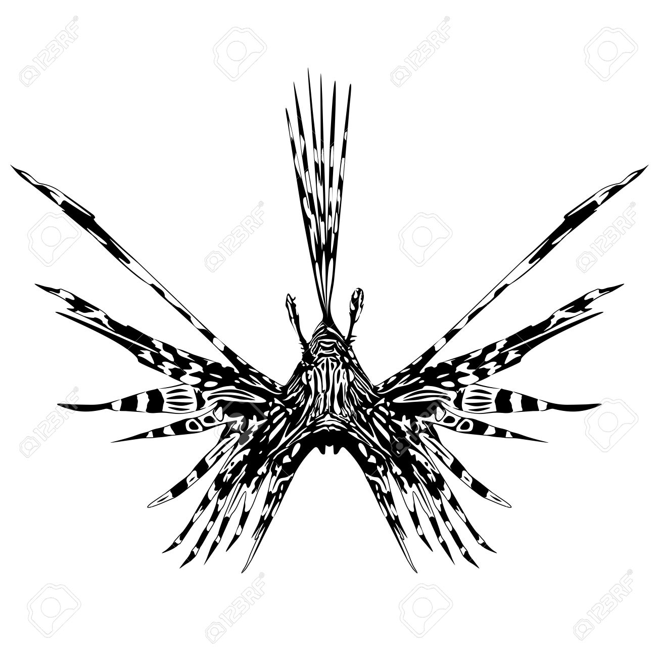 346c3e252 Lion Fish Tattoo Style Royalty Free Cliparts, Vectors, And Stock ...