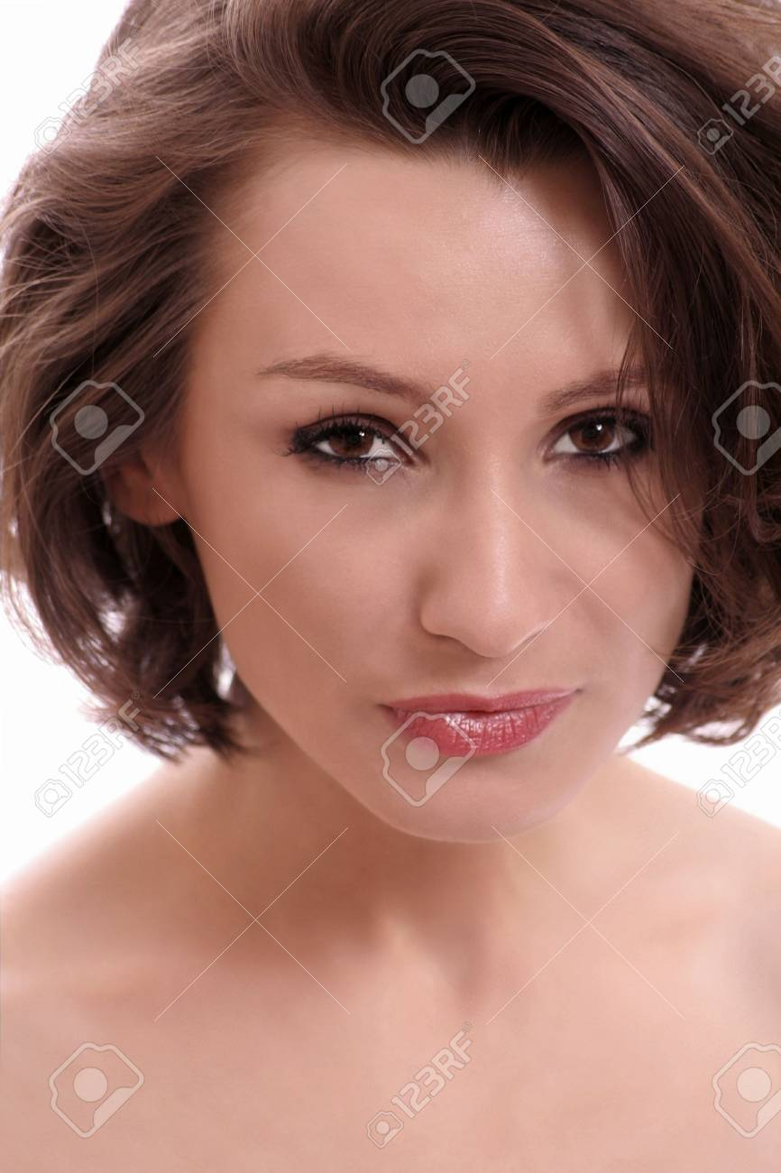 A portrait of an attractive brunet woman. Stock Photo - 5214882