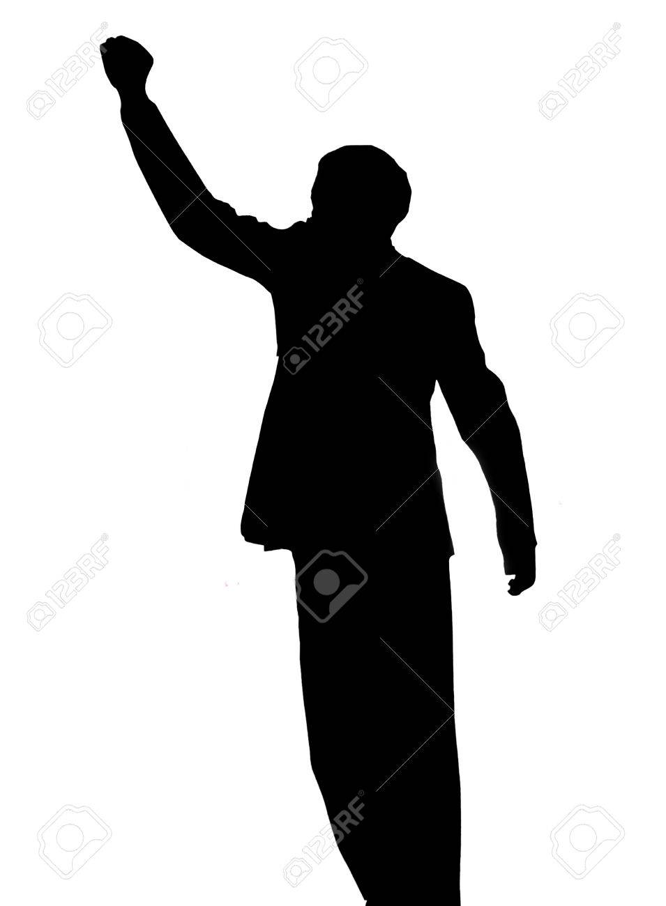 A silhouette image of Nelson Mandela - 24495539