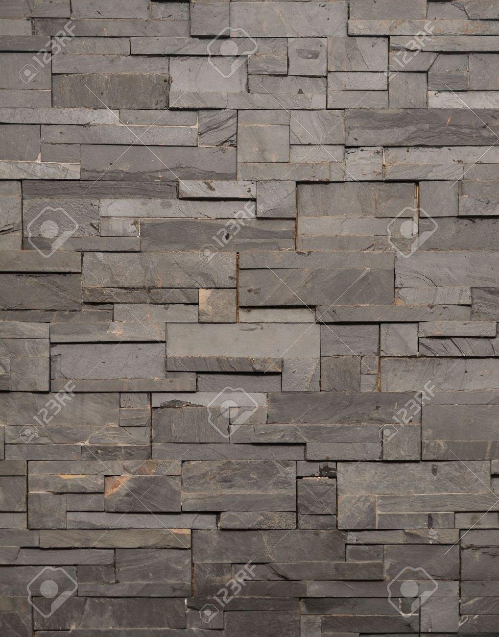 Donker grijze steen tegel textuur bakstenen muur opgedoken royalty ...