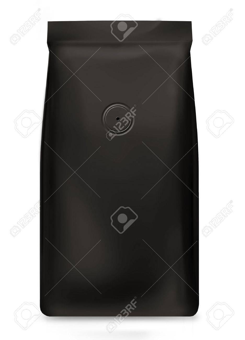 black foil bag with valve Stock Photo - 11542095