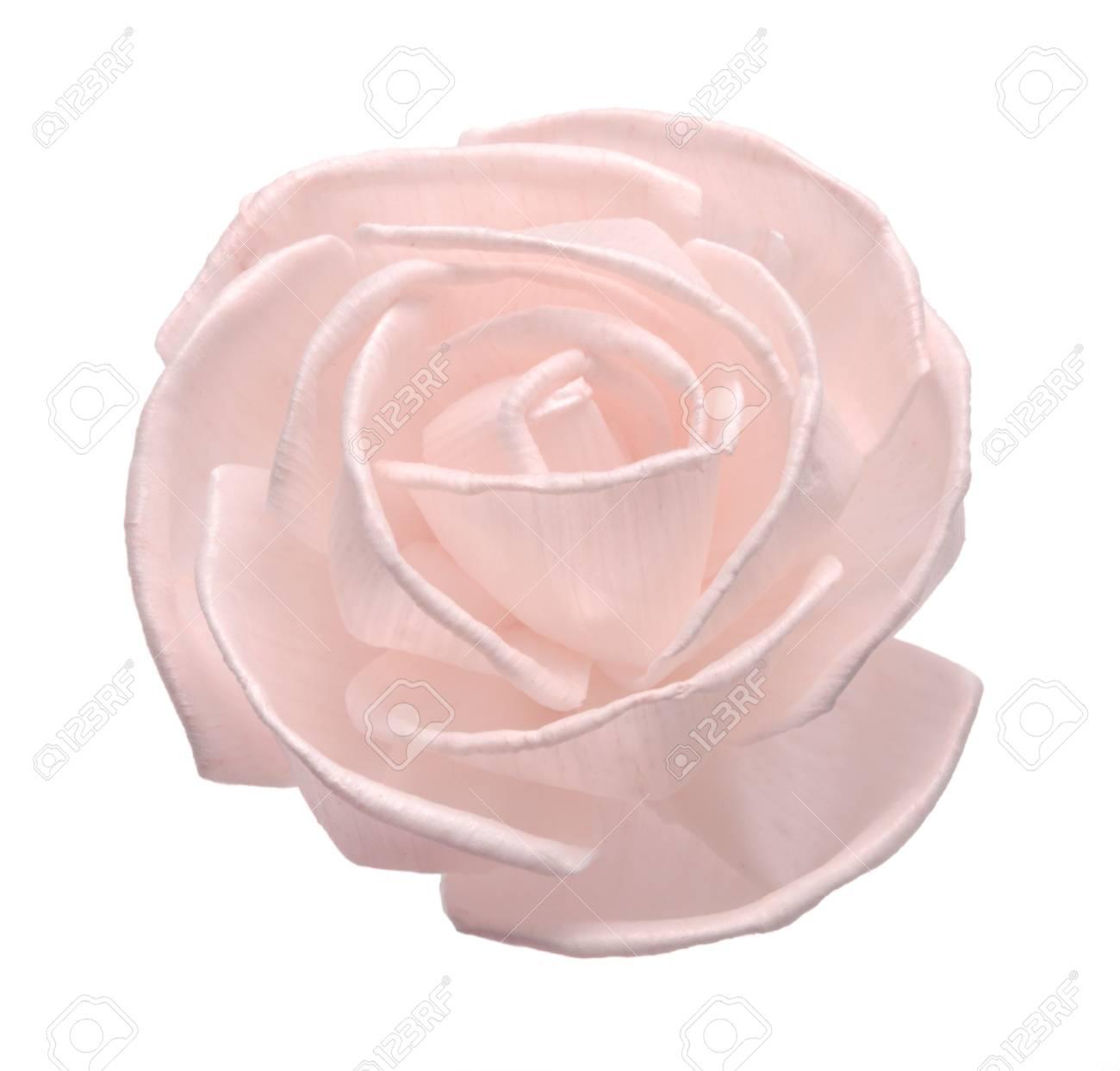 rose craft flower isolated on white background Stock Photo - 18621908