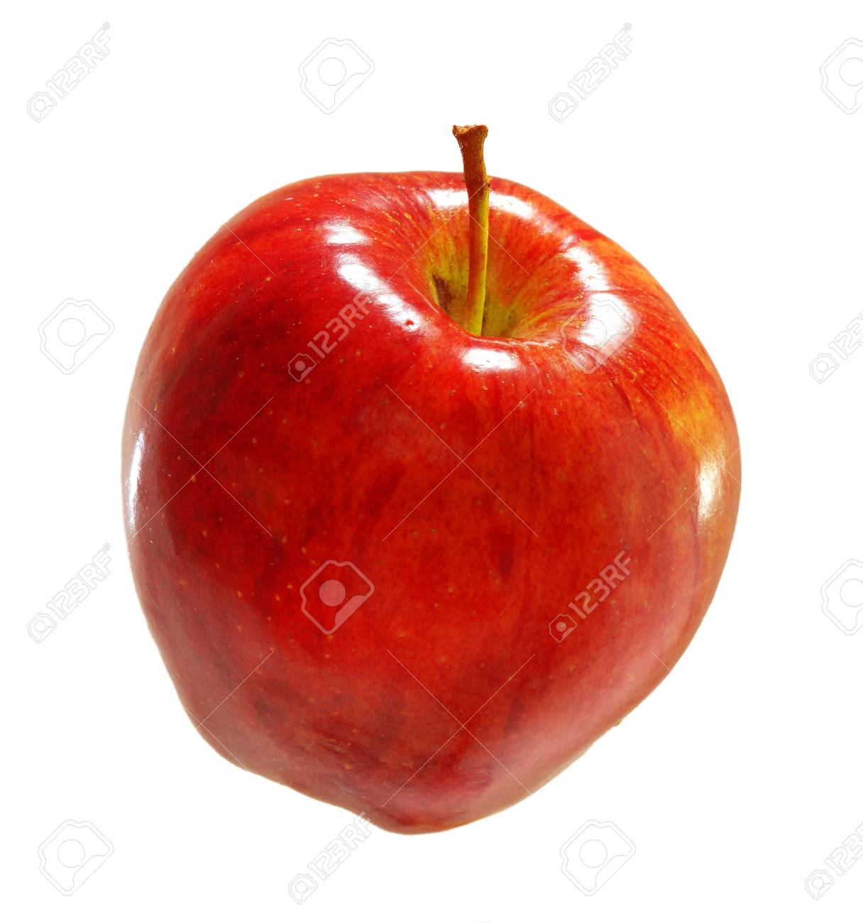 red apple isolated on white background Stock Photo - 21020145