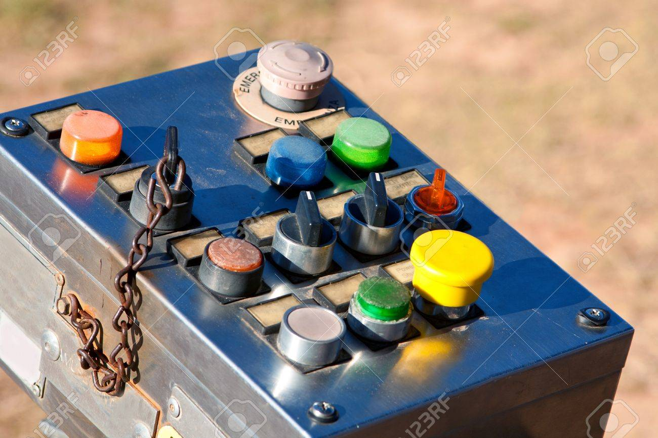 Industrial Control Panel With Buttons And Switches Stock Photo - 14963240