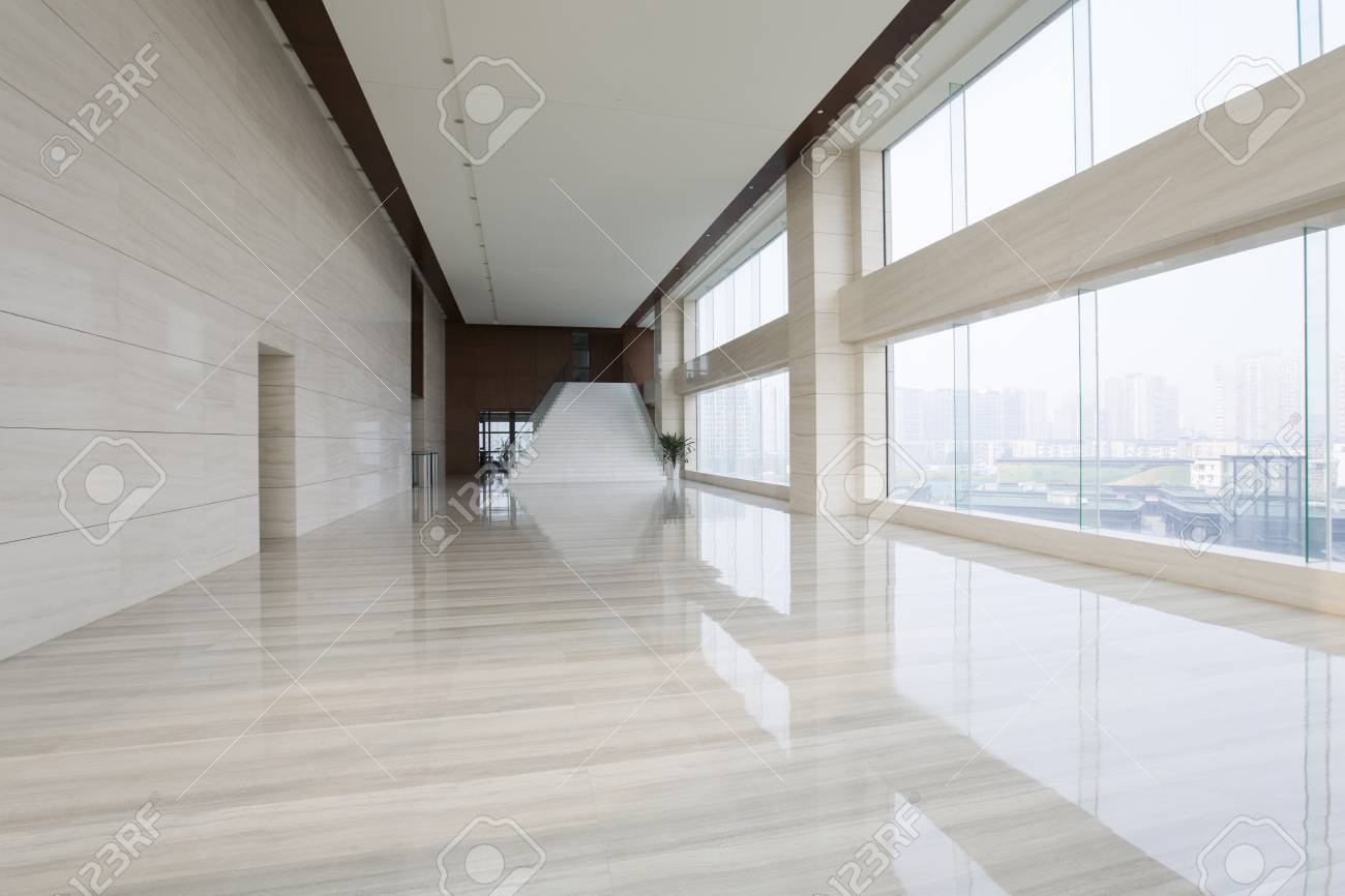office hallway. Modern Office Building Hallway Stock Photo - 75120185 C