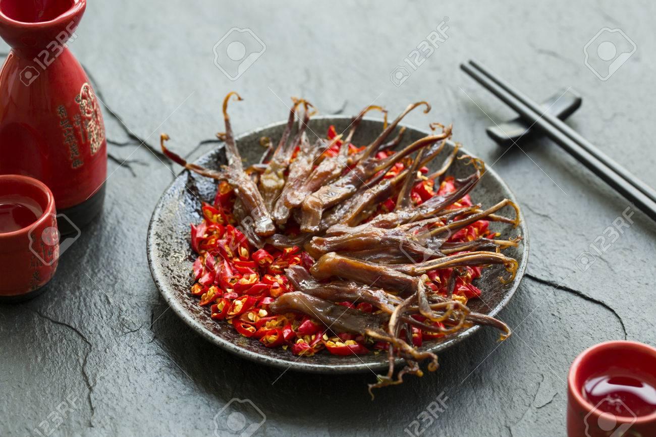 Cuisine Chinoise Des Langues De Canard Braisees Banque D Images Et