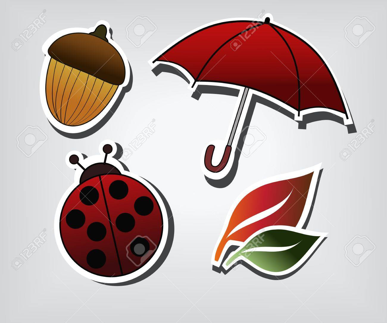 Autumn symbols Stock Vector - 10768479