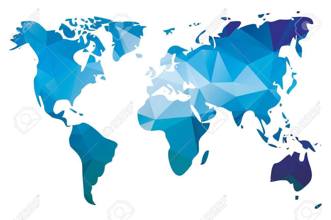 World map in geometric triangle pattern vector illustration world map in geometric triangle pattern vector illustration foto de archivo 28389954 gumiabroncs Image collections