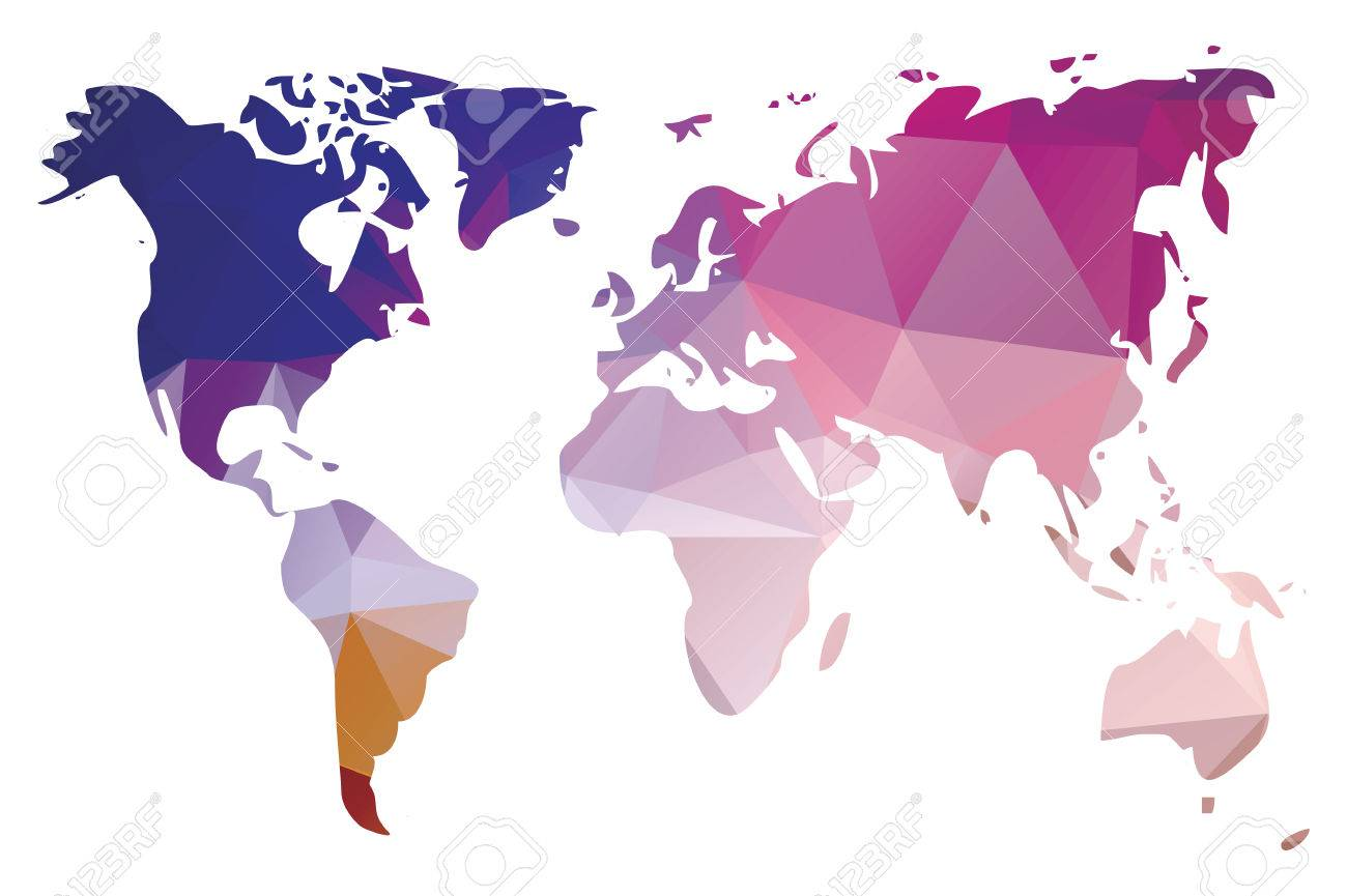 World map in geometric triangle pattern vector illustration world map in geometric triangle pattern vector illustration foto de archivo 28389958 gumiabroncs Image collections