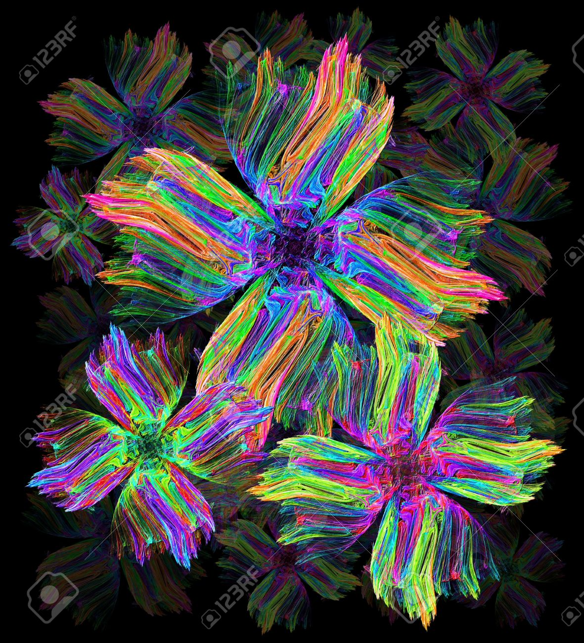 Psychedelic Flowers Art Paint