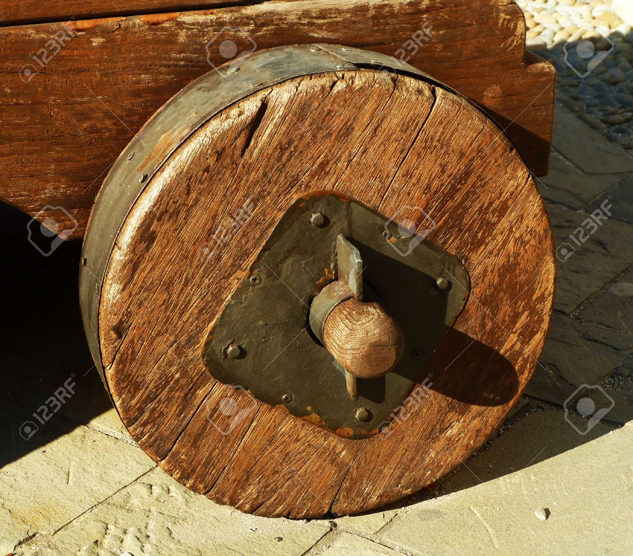 Reproduction antique wooden wheel Stock Photo - 17968297