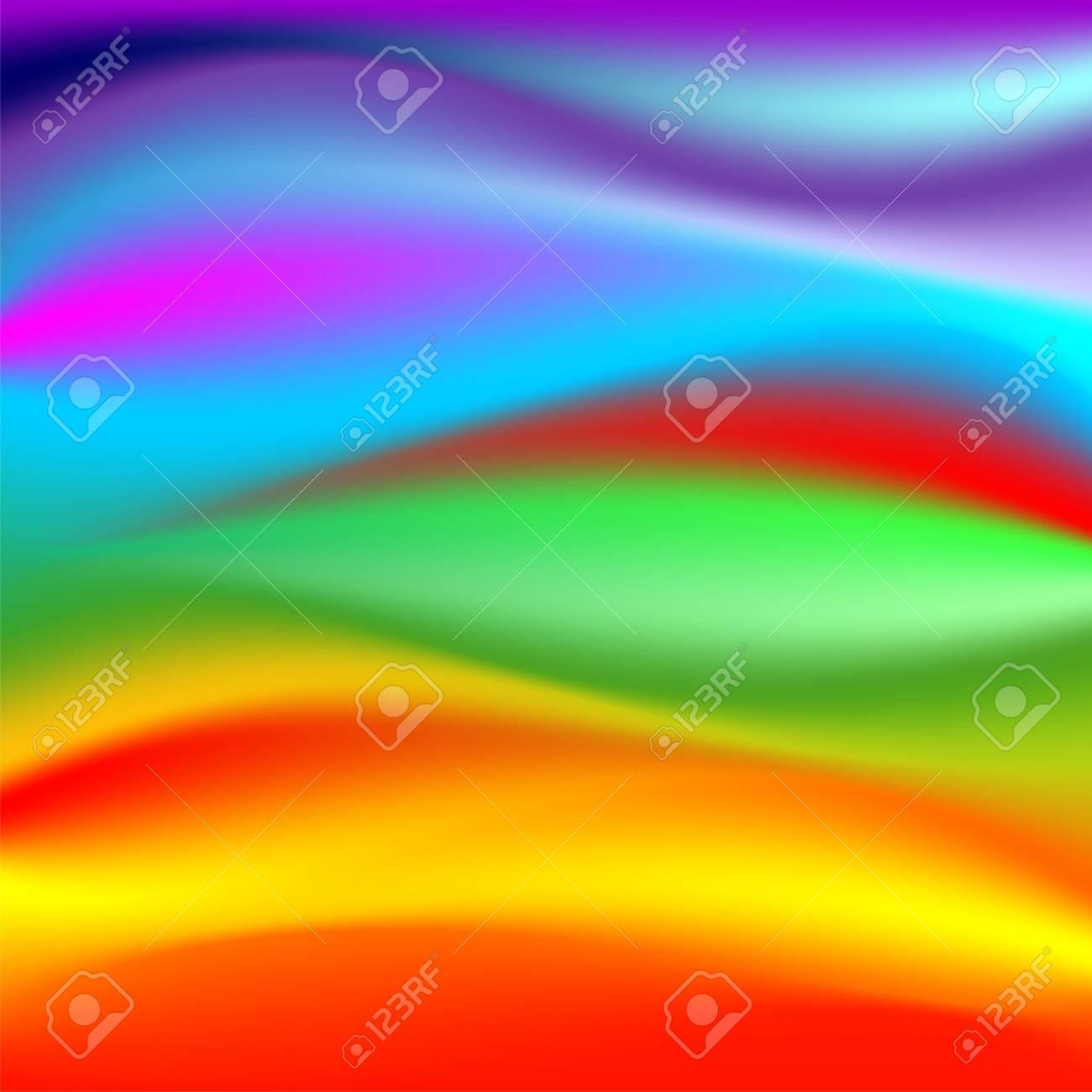 Rainbow Waves Texture Pattern Stock Vector - 18643852
