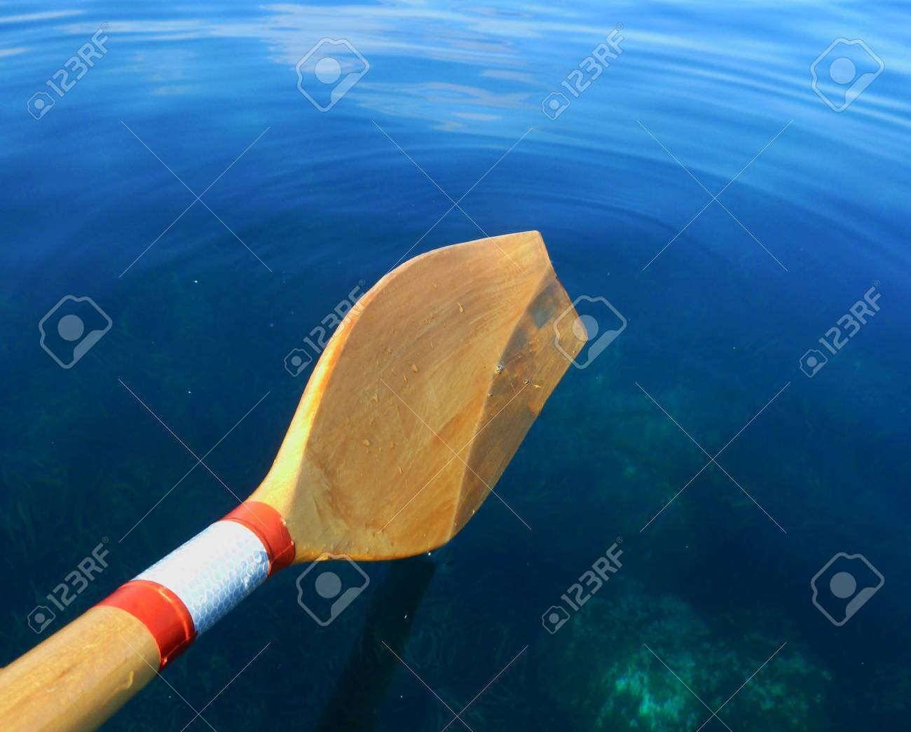 Oar Paddle on Sea Water Stock Photo - 20936833
