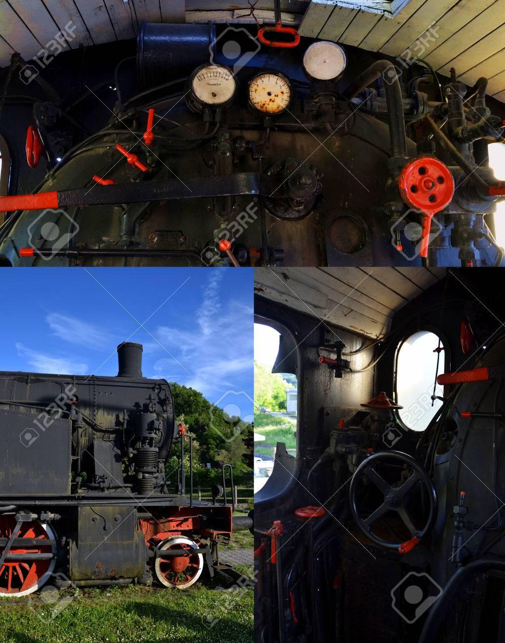 steam locomotive collage Stock Photo - 59190594