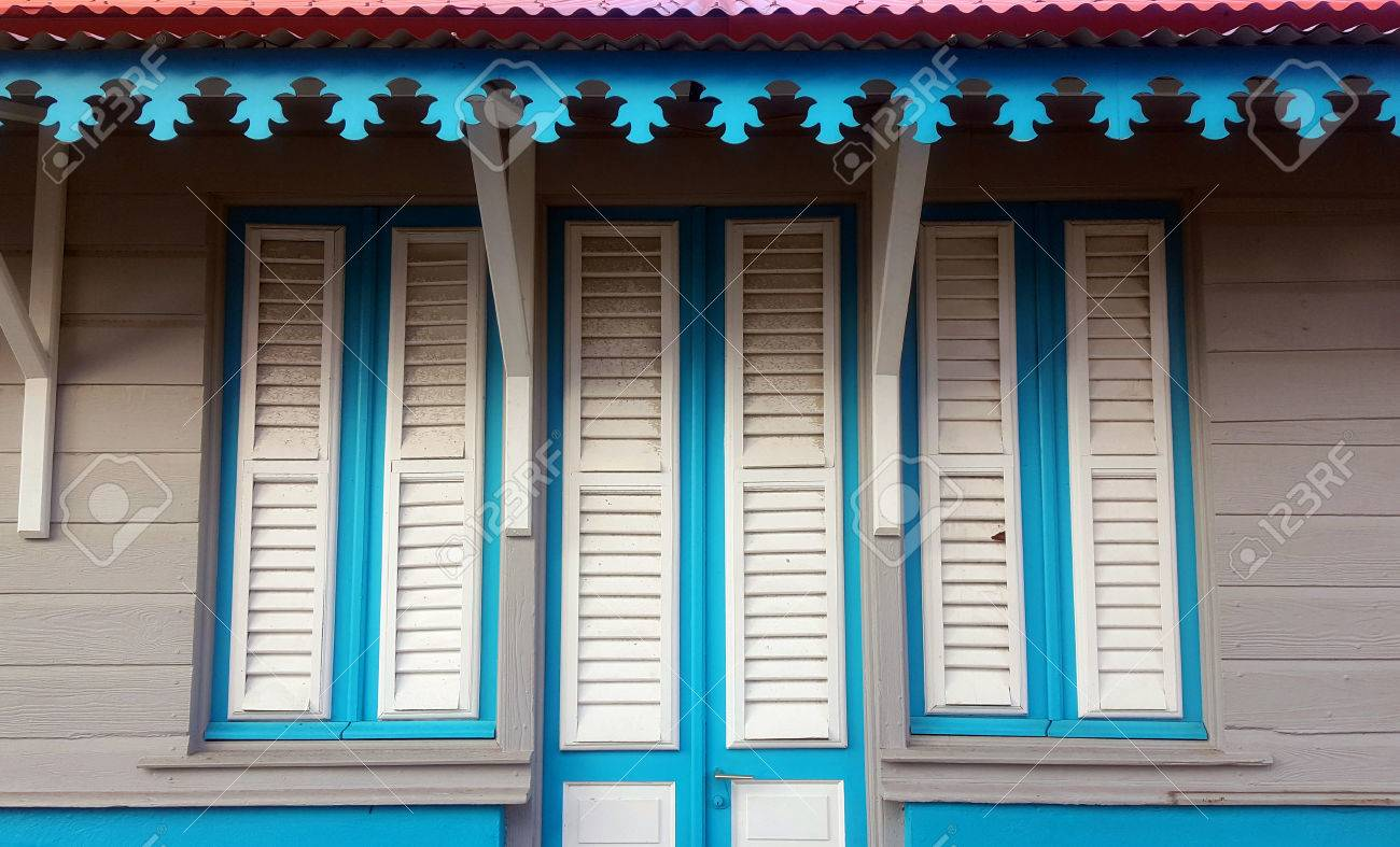 Creole Caribbean Home Architecture Stock Photo - 68270802