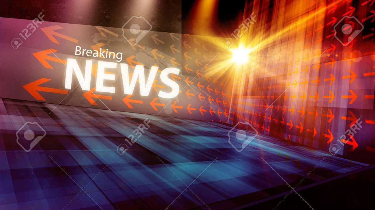 Graphical Digital News Background With Arrows And News Text Stock ...