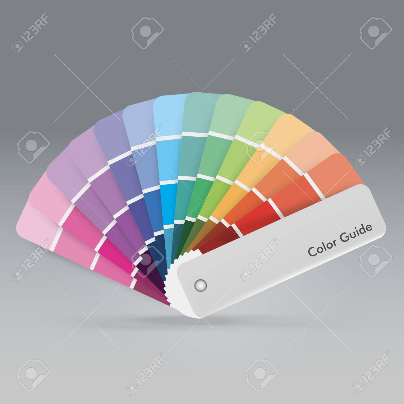 Illustration Of Color Palette Guide For Print, Guide Book For ...