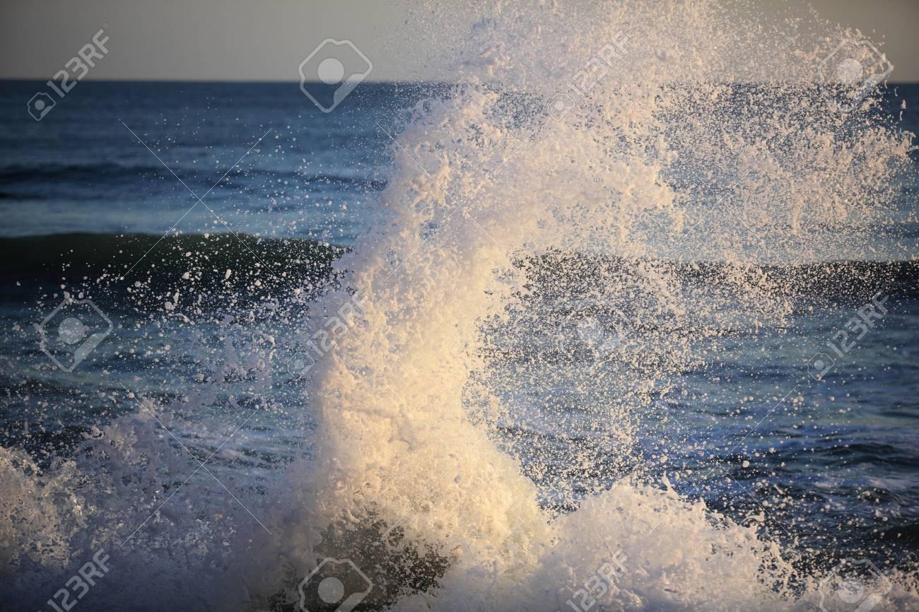 Big sea wave on a windy day - 18145772