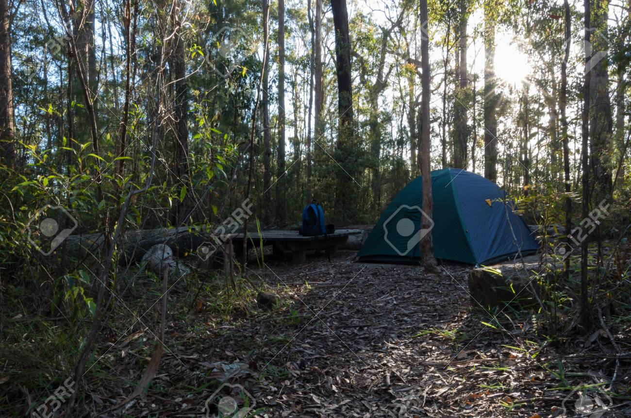 Stock Photo - Ubajee Walkers C&site with a tent pitched & Ubajee Walkers Campsite With A Tent Pitched Stock Photo Picture And ...