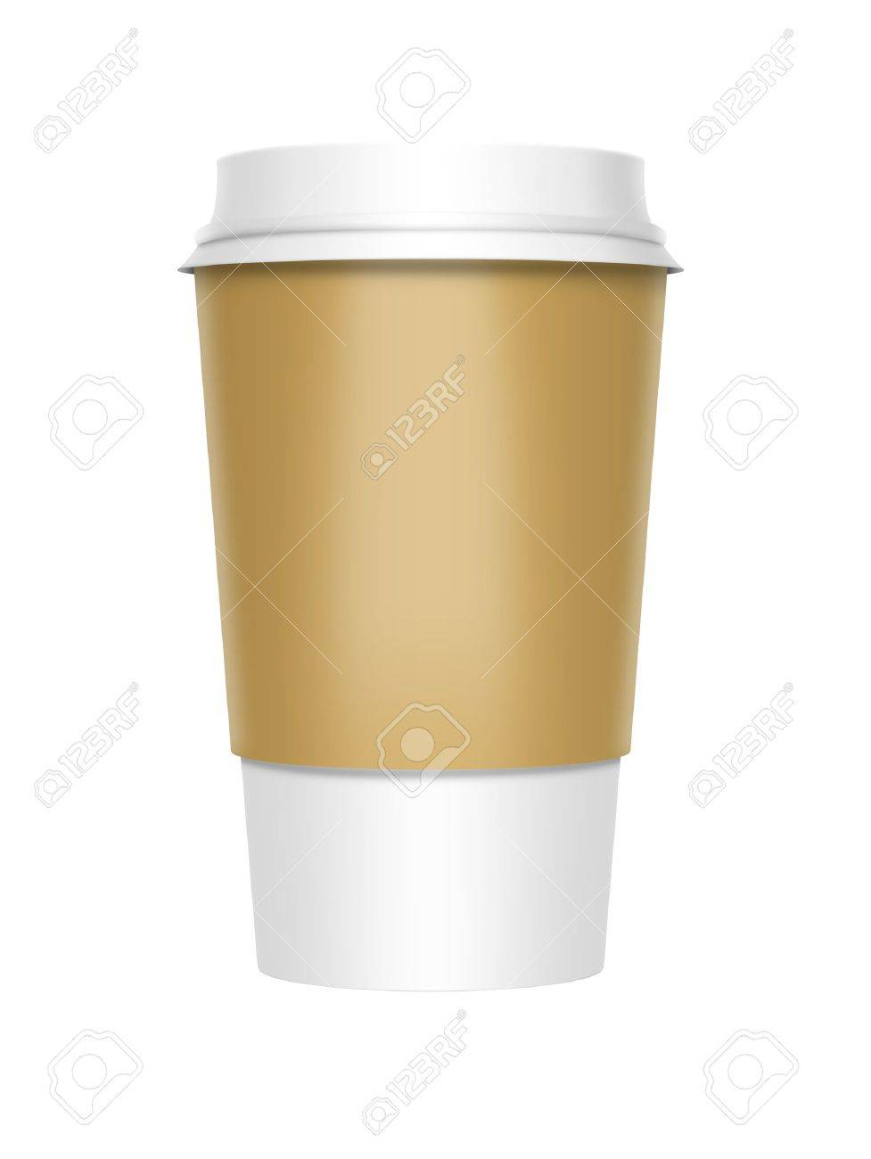 A computer illustration of a takeaway coffee cup Stock Illustration - 10901882