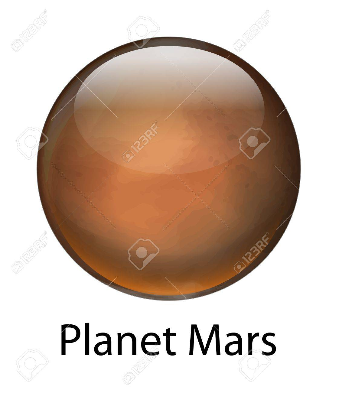Illustration of the planet Mars Stock Vector - 16988042