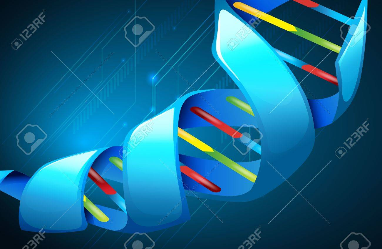 Illustration of Deoxyribonucleic acid structure Stock Vector - 16988192
