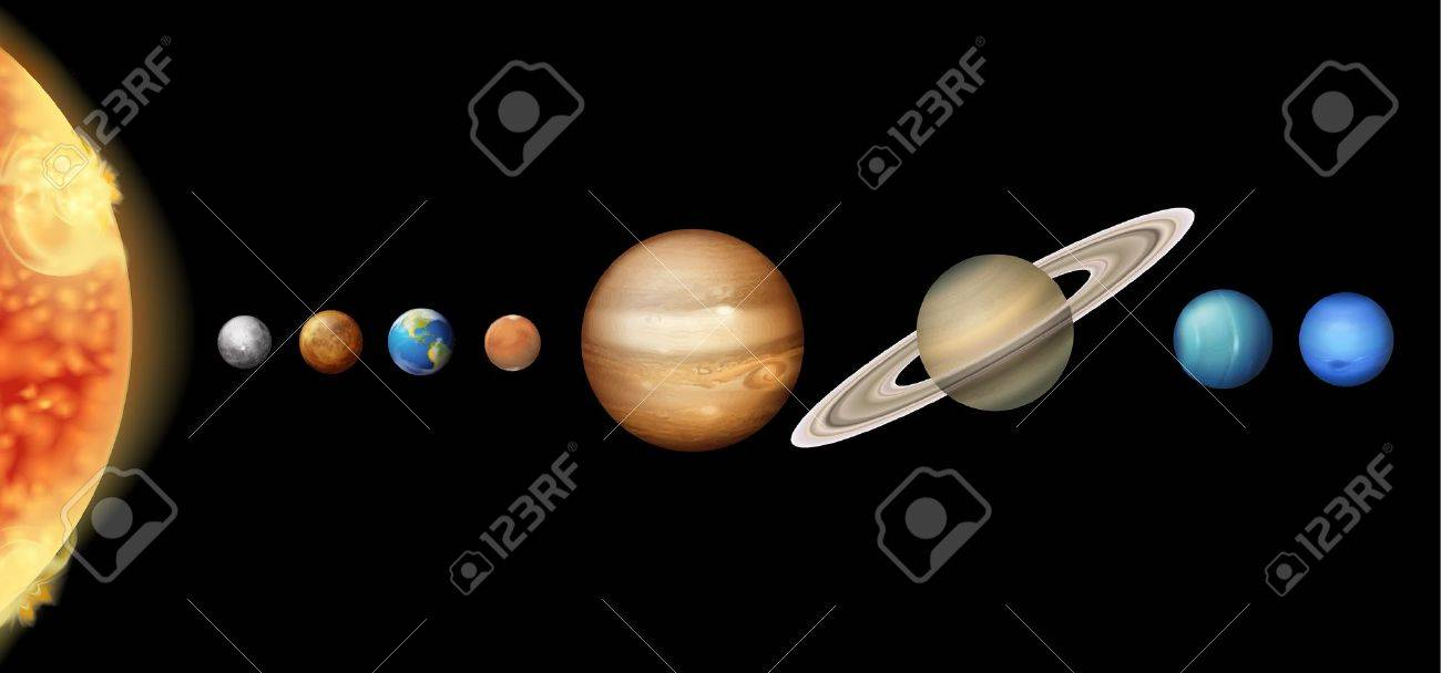 Illustration of the Solar System Stock Vector - 16988238