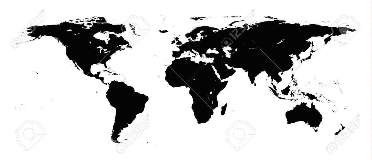 Detailed illustration of world map Stock Vector - 16988050