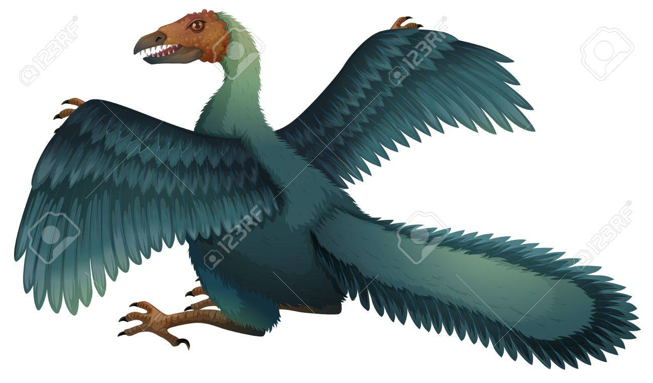 Illustration of a Archaeopteryx - 20185484