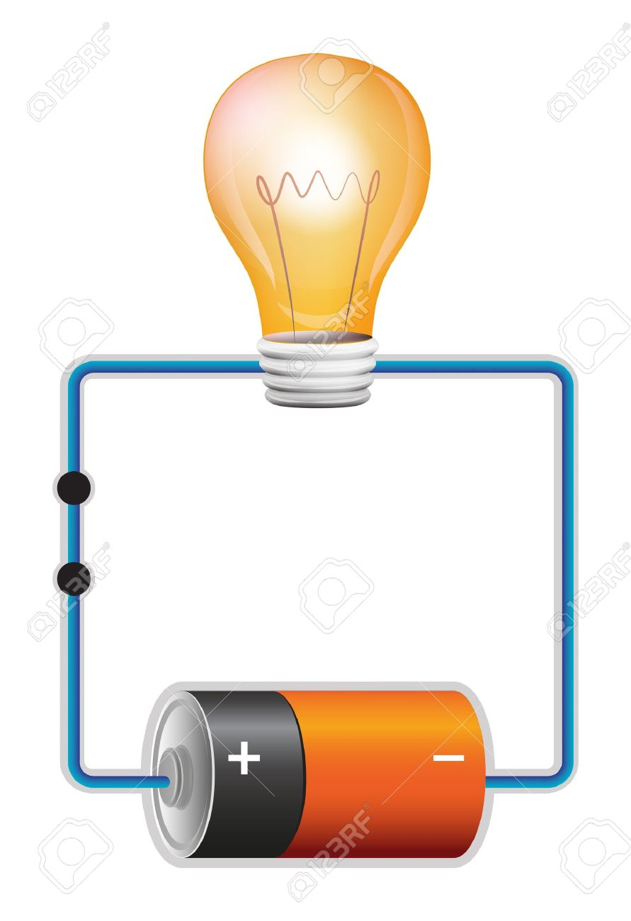 Illustration Of An Electric Circuit Royalty Free Cliparts, Vectors ... for Electricity Circuit Clipart  588gtk