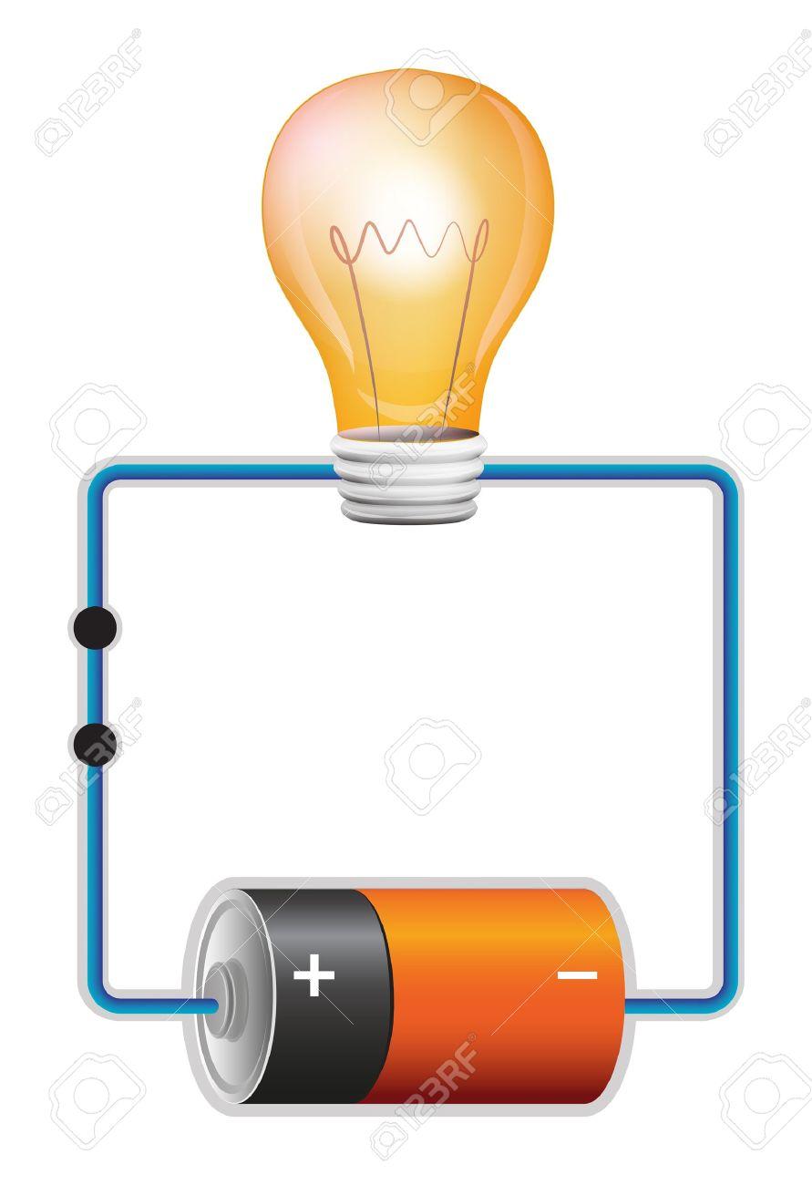 Circuito Electrico : Ilustración de un circuito eléctrico ilustraciones vectoriales
