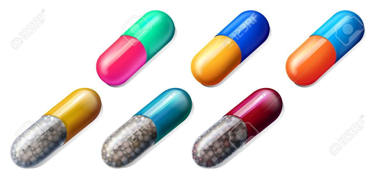 Illustration of the medicinal pills Stock Vector - 20774829