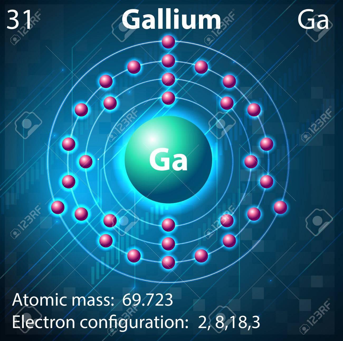 Illustration of the element Gallium Stock Vector - 21832772