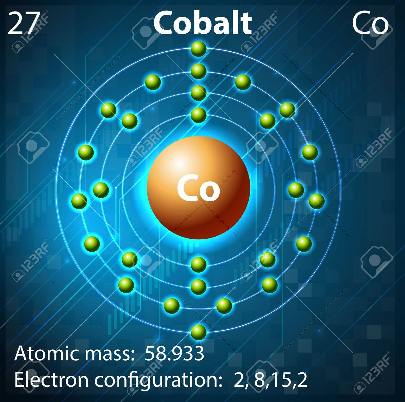 Illustration of the element Cobalt Stock Vector - 21832117