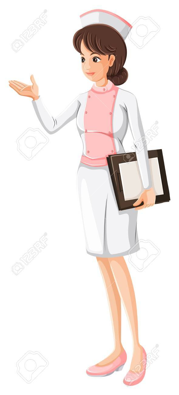 Illustration of a health care practitioner on a white background Stock Vector - 23261234