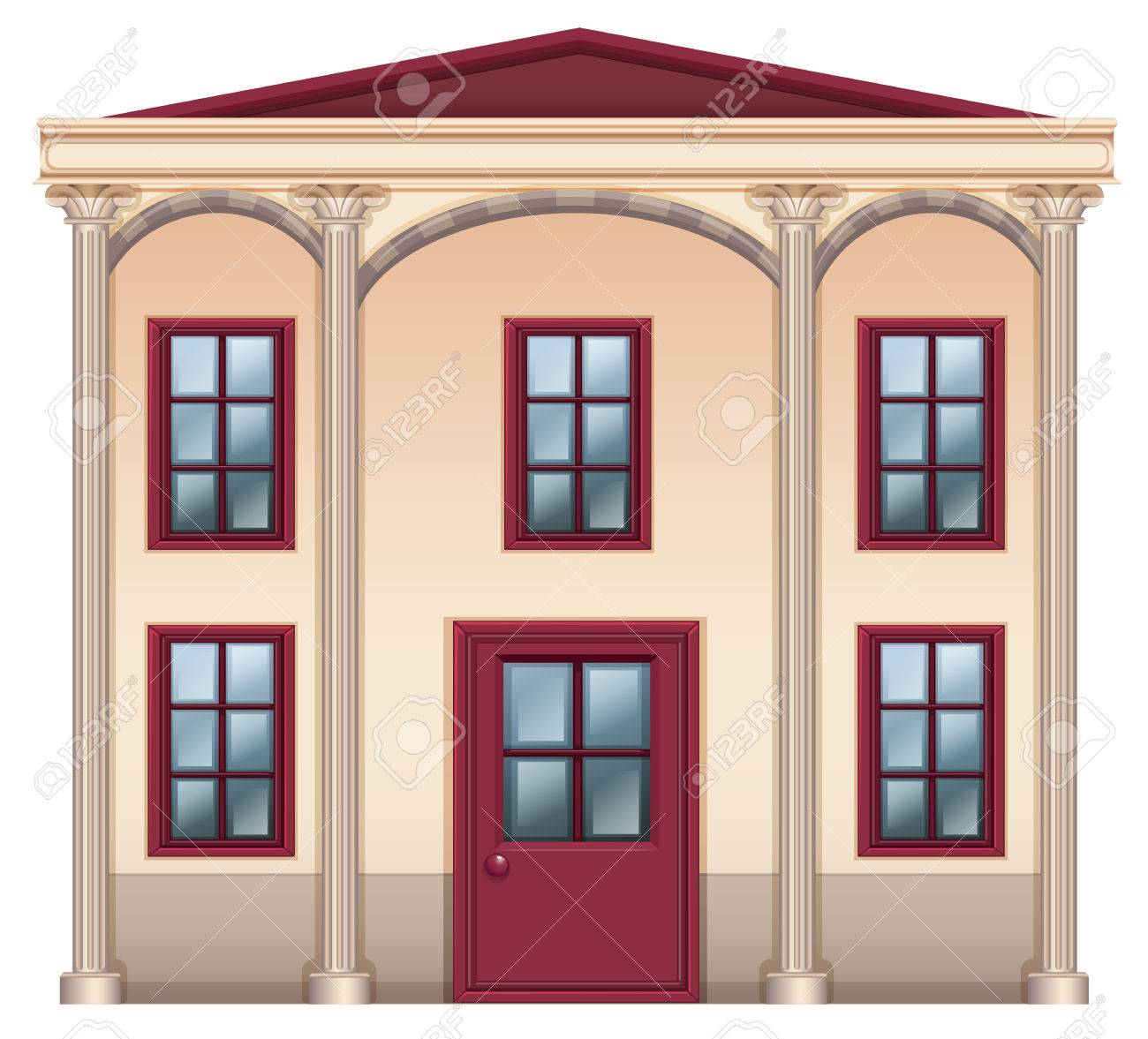 Illustration of a very big house on a white background Stock Vector - 23978072