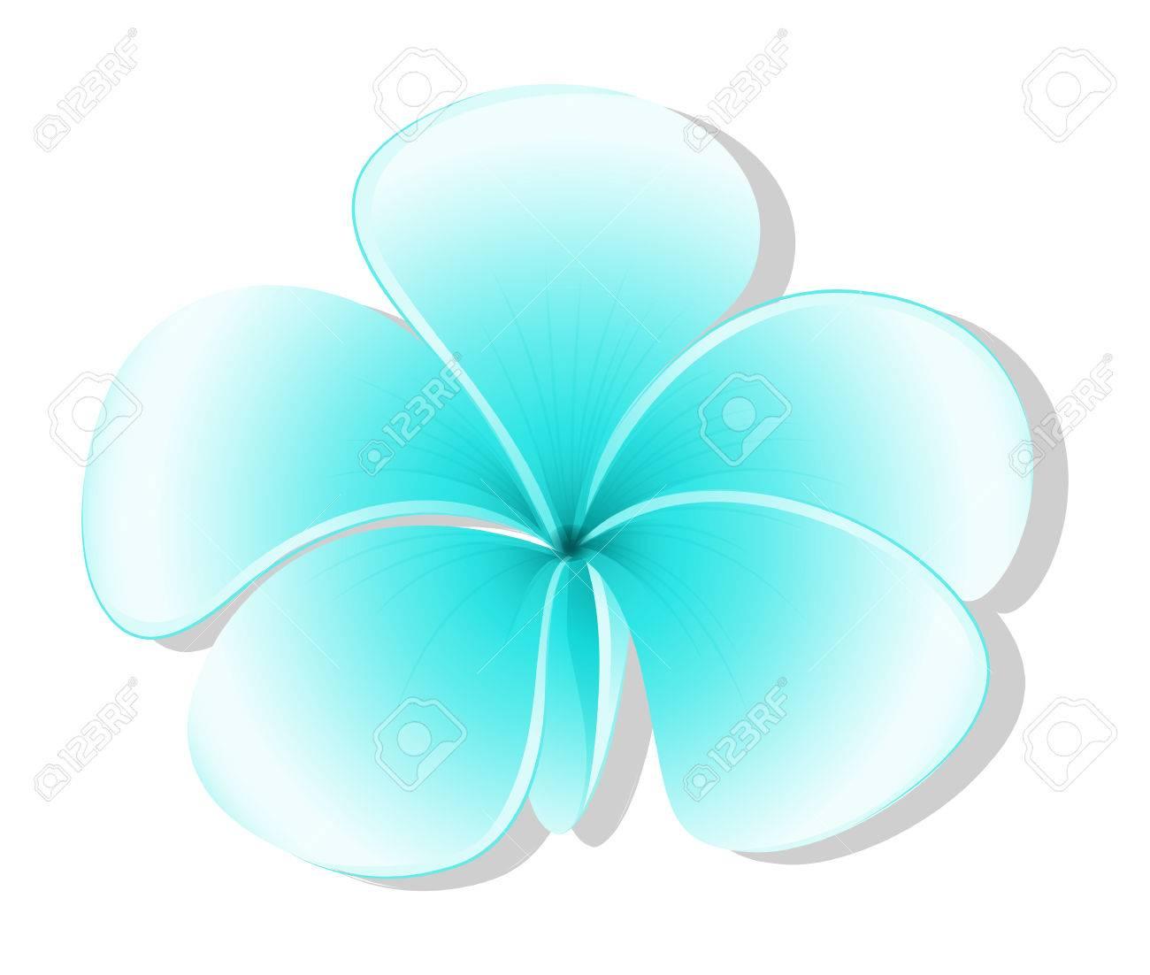 Illustration Of A Light Blue Flower On White Background Stock Vector
