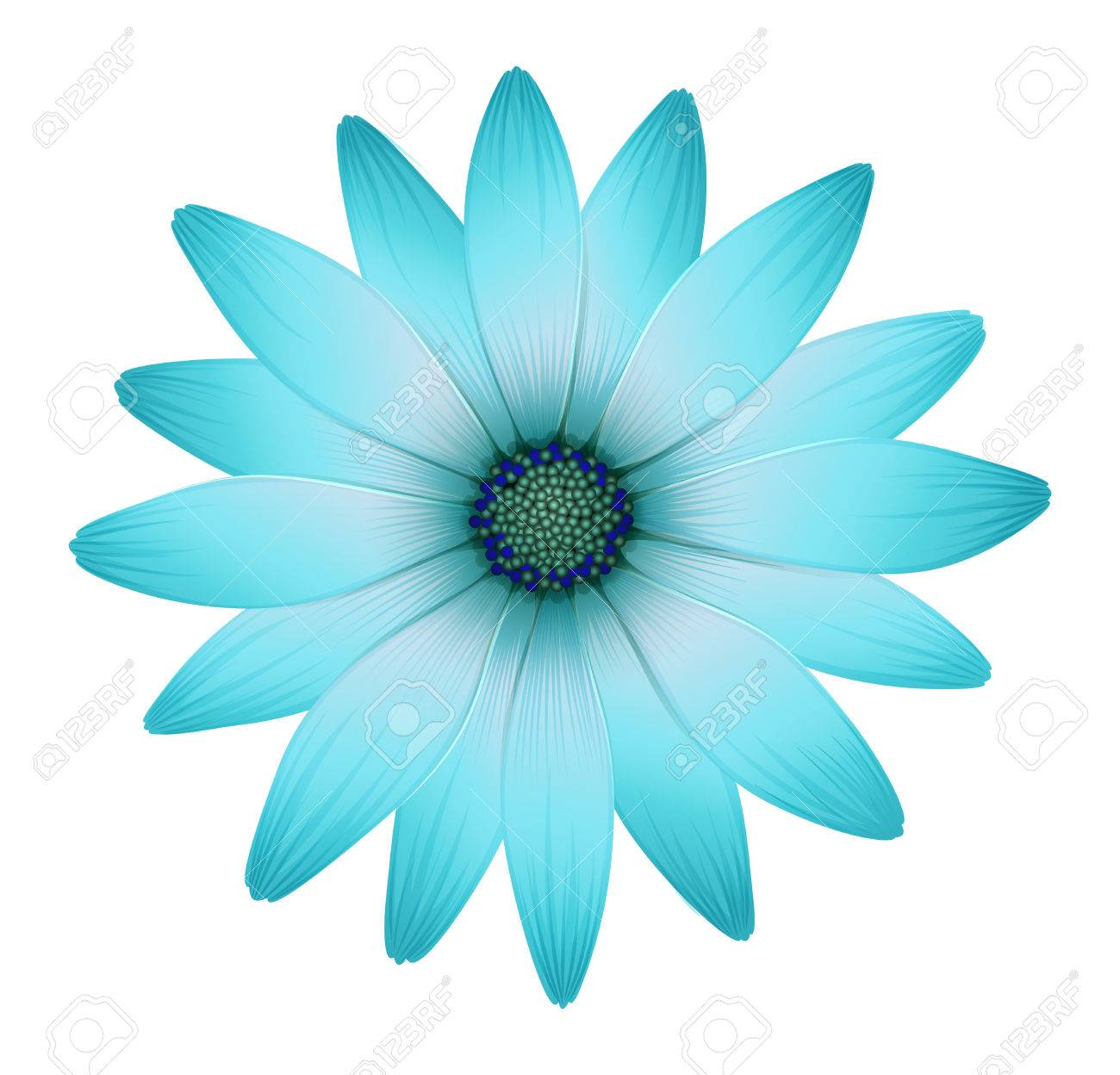 Illustration Of A Beautiful Flower On A White Background Royalty Fri