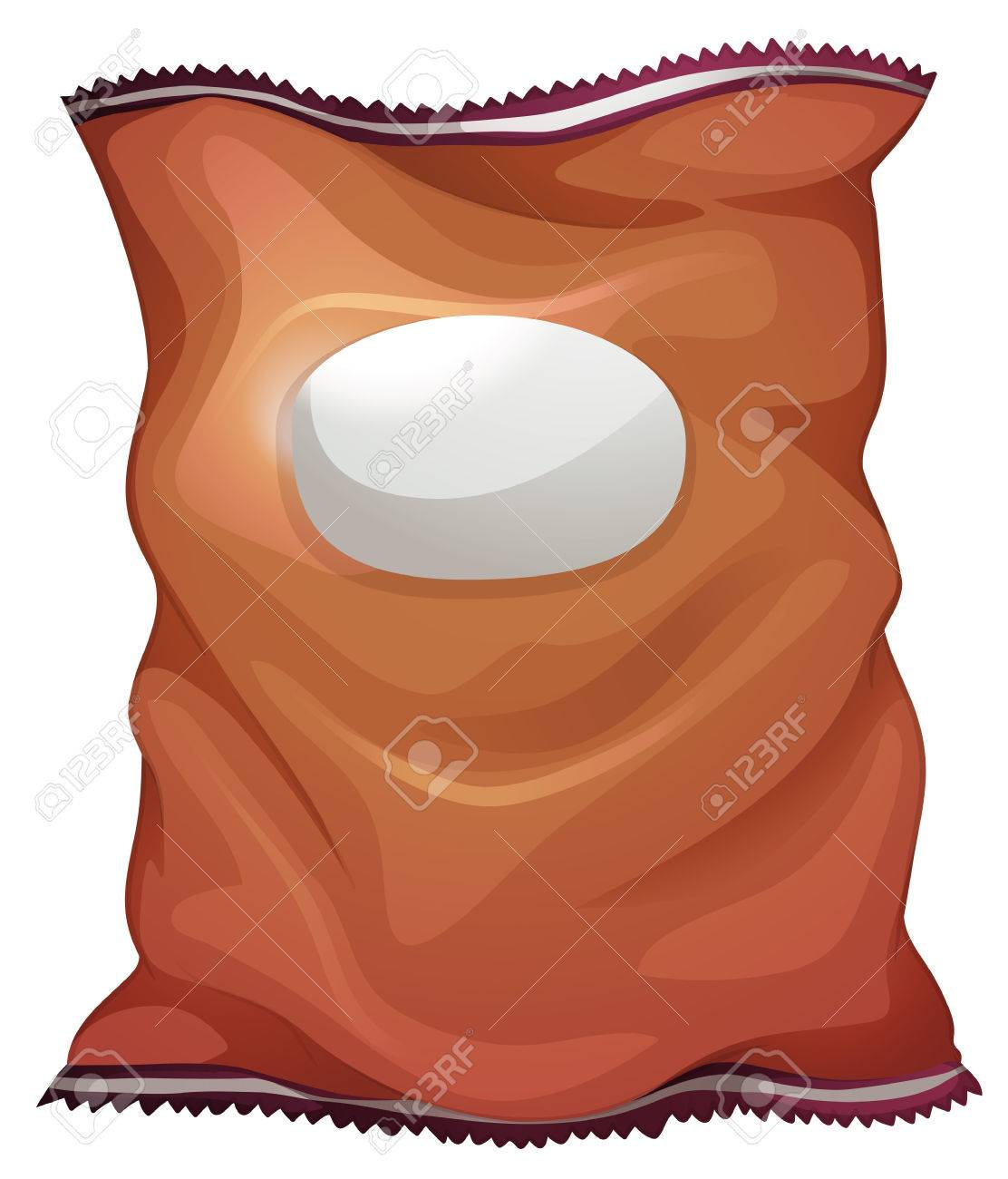 Illustration of a brown bag with an empty label on a white background Stock Vector - 29598337