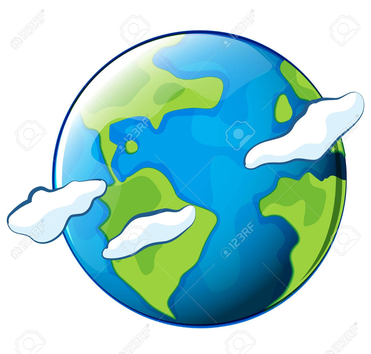 Illustration Of The Planet Earth On A White Background Royalty Free Cliparts Vectors And Stock Illustration Image 30260815