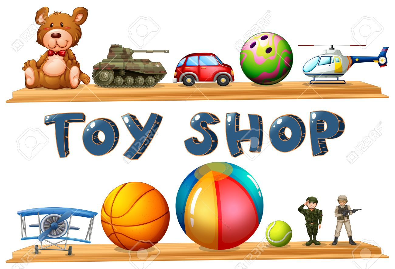 Black And White Toy Store Clipart