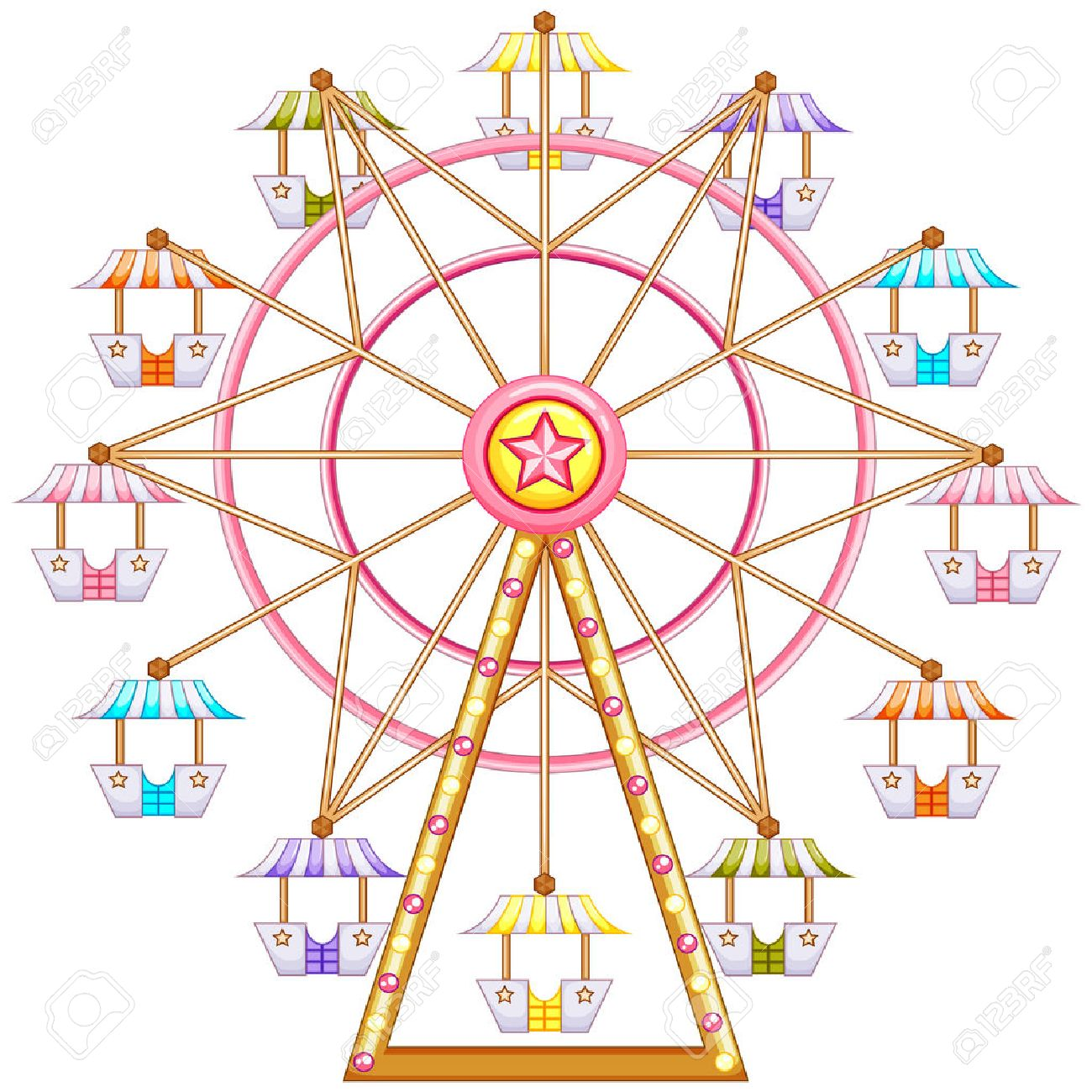 Ferris wheel isolated stock photos pictures royalty free ferris illustration of a ferris wheel ride on a white background biocorpaavc