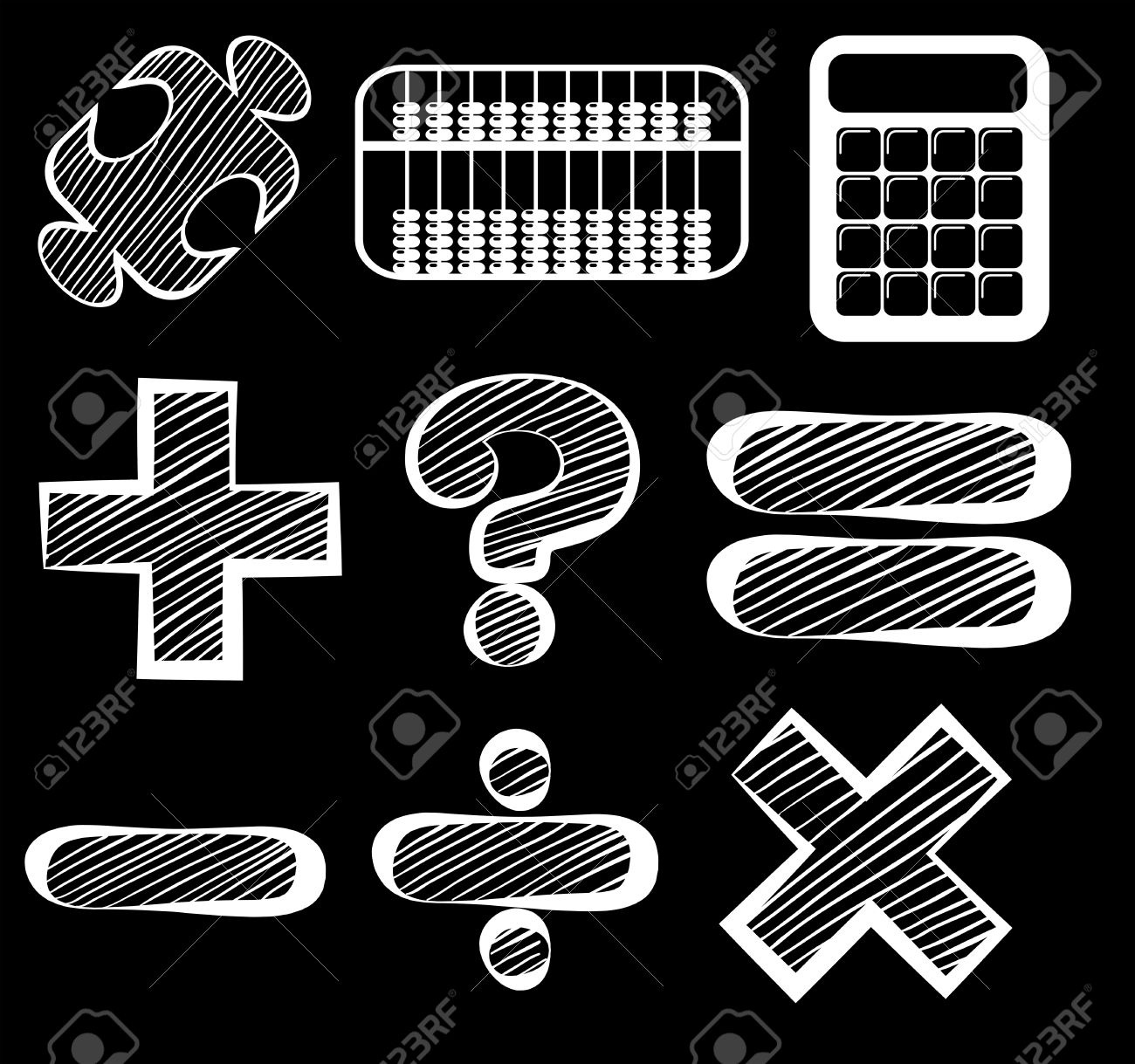 Illustration of the different mathematical symbols on a black illustration of the different mathematical symbols on a black background stock vector 31499221 biocorpaavc Gallery