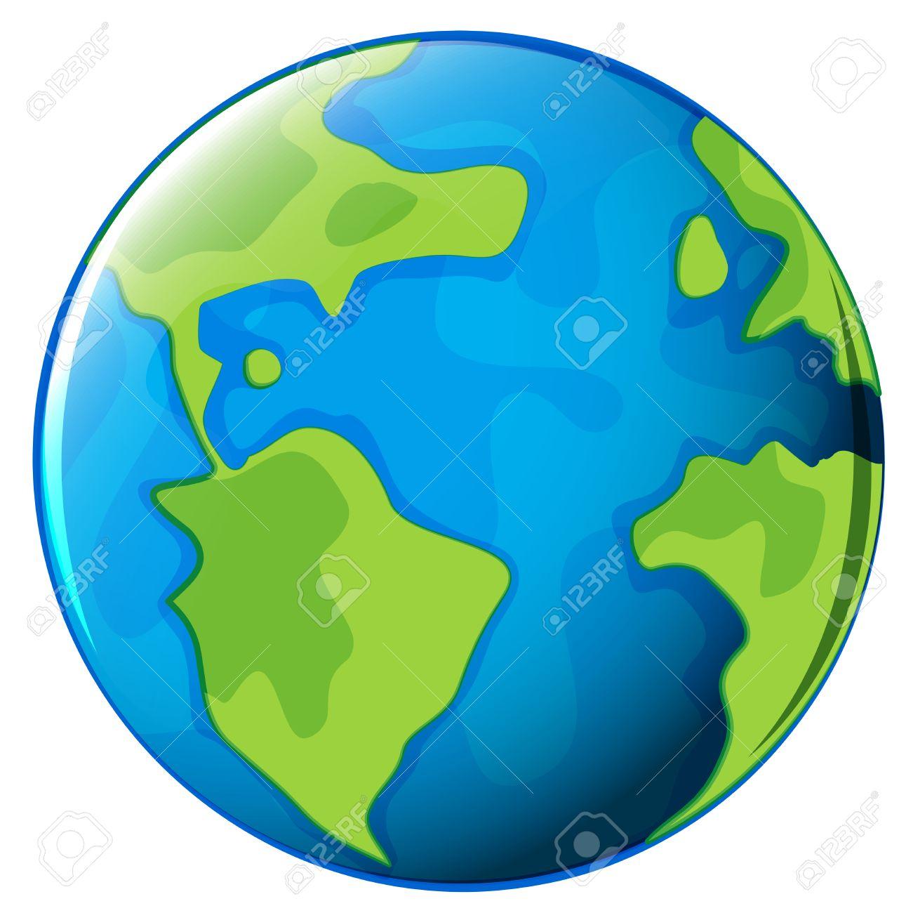 Ilustración Del Planeta Tierra En Un Fondo Blanco