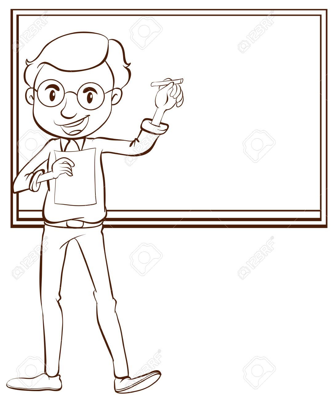 Teacher Drawing - Cliparts.co