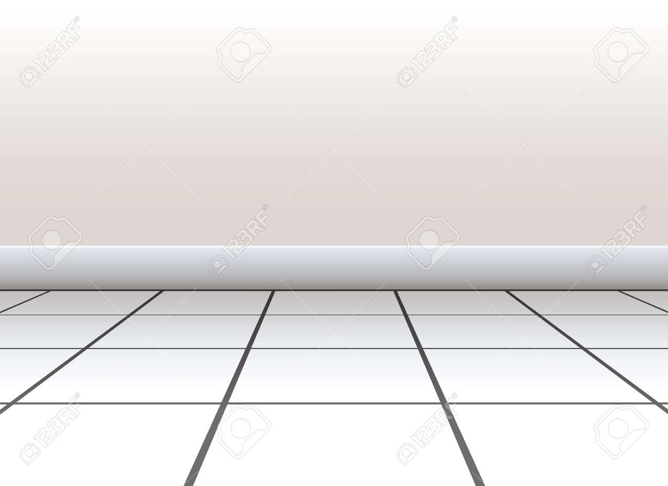 Tiled Floor On A White Background Royalty Free Cliparts, Vectors ...