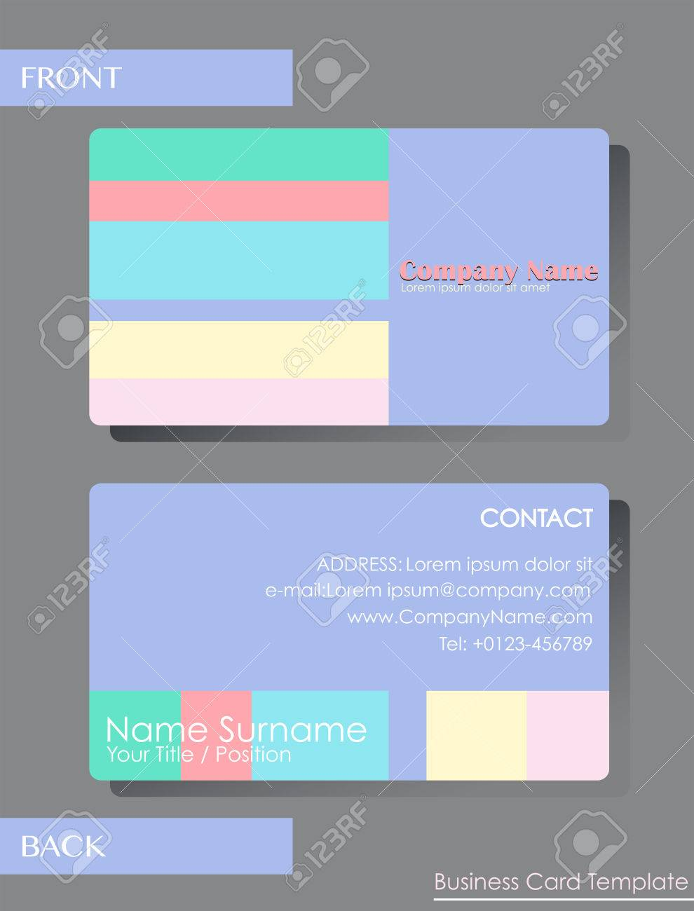 A colourful calling card template royalty free cliparts vectors a colourful calling card template stock vector 34469933 fbccfo Images