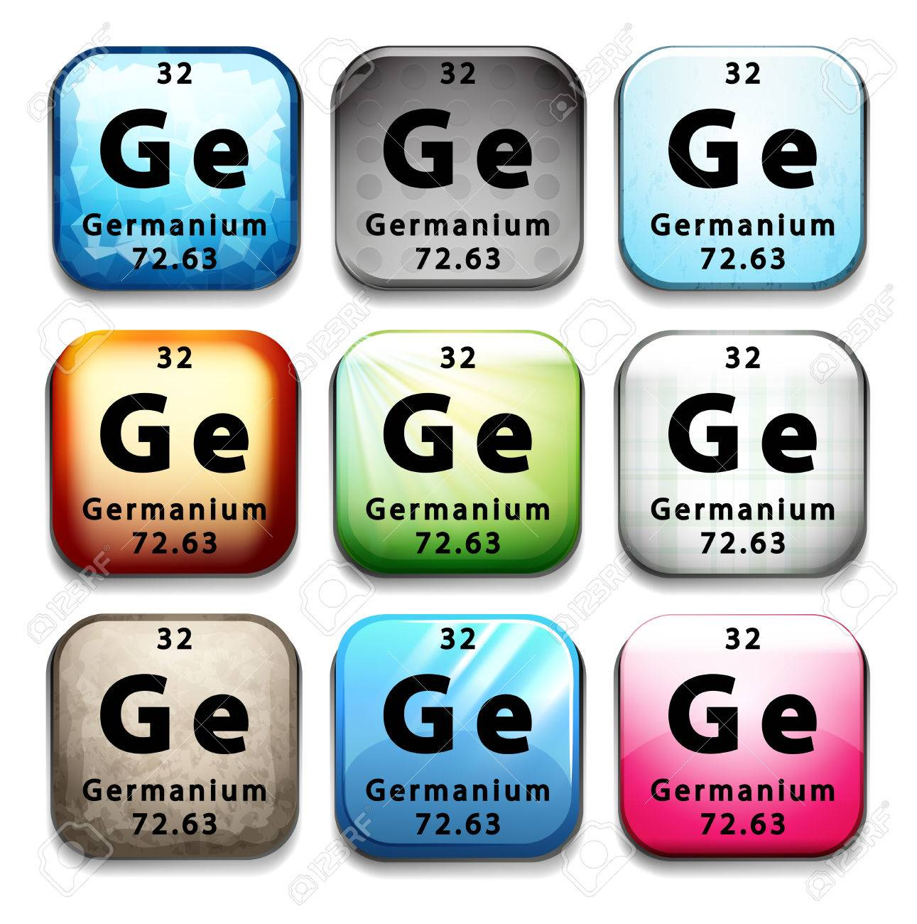 Illustration Of A Periodic Symbol Of An Element Germanium Royalty