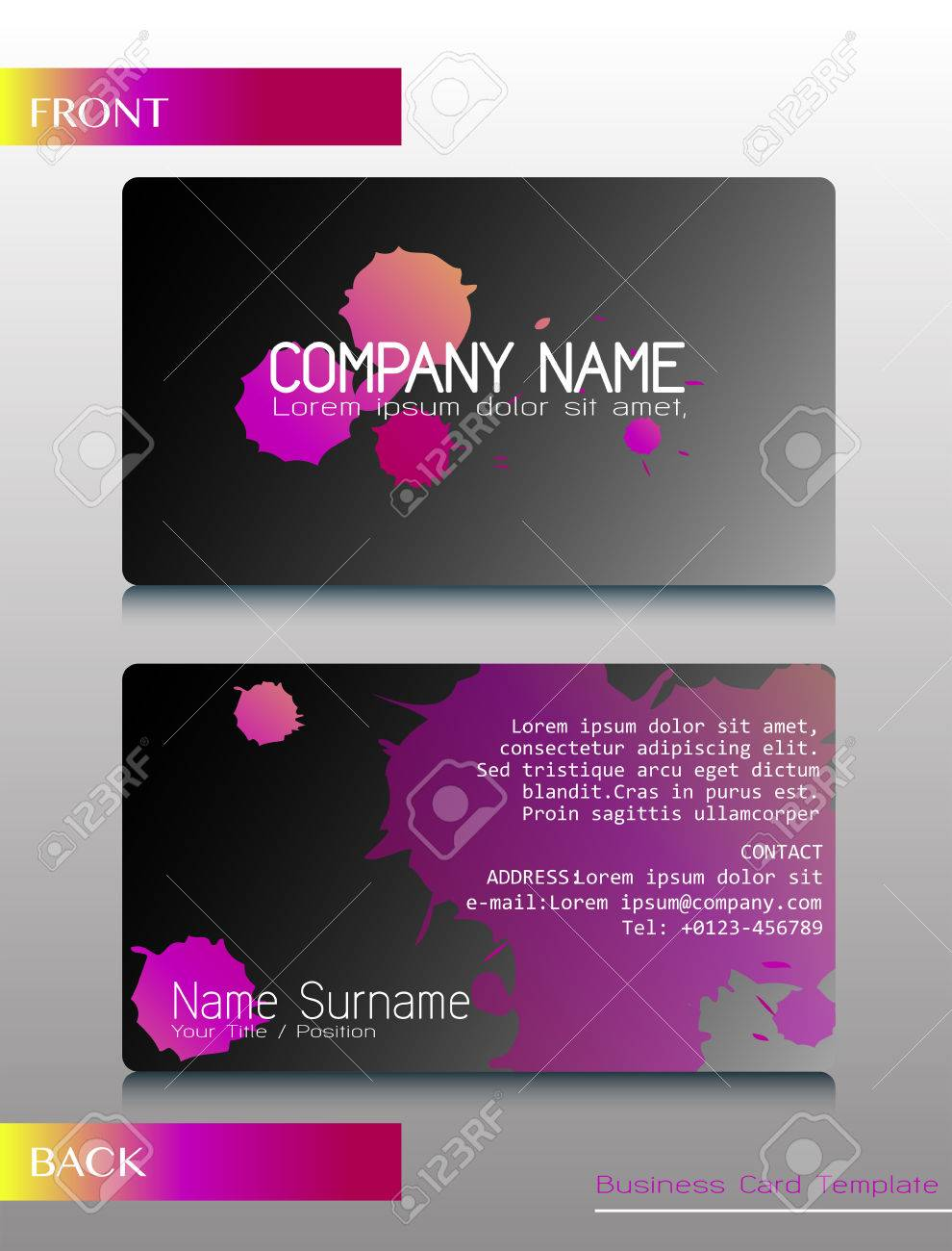 What to put on the back of a business card images free business back of a business card image collections free business cards a front and back design of magicingreecefo Image collections