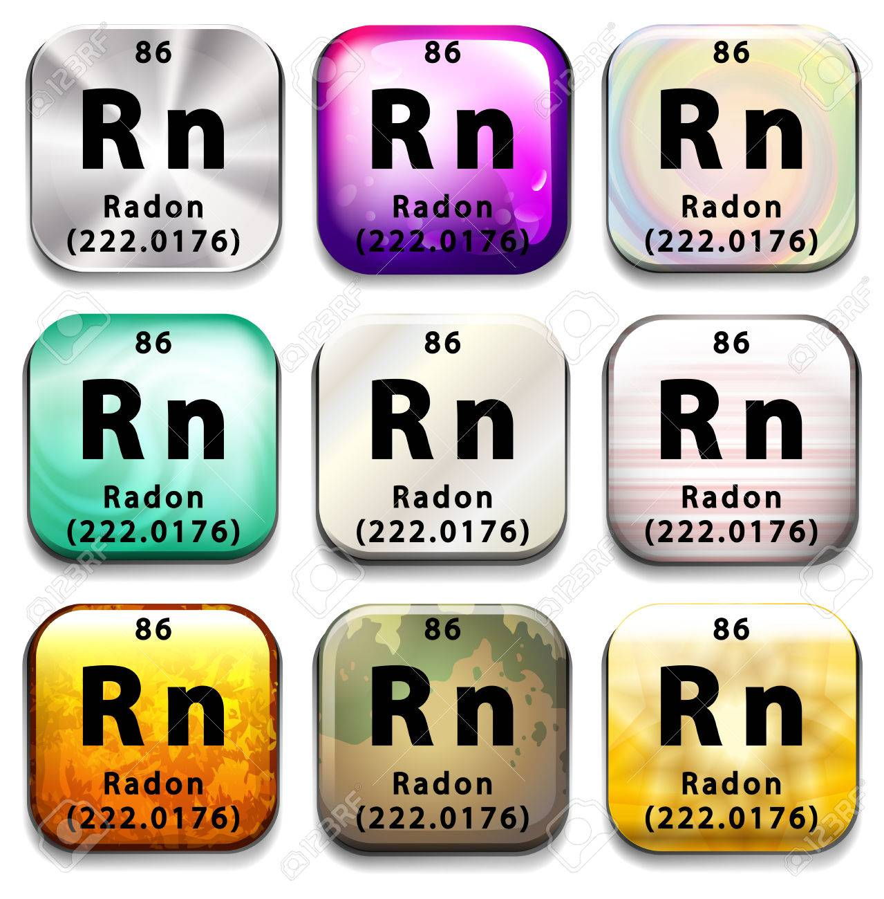 A periodic table showing radon on a white background royalty free a periodic table showing radon on a white background stock vector 35519962 urtaz Images